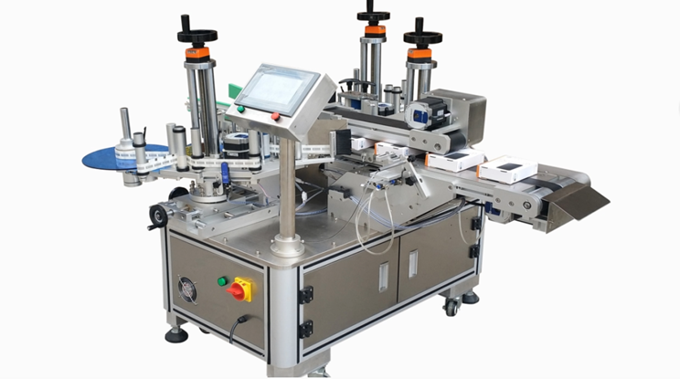 Automatic corner sealing and labeling machine