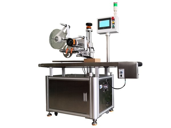 Automatic plane labeling machine for corporate image points