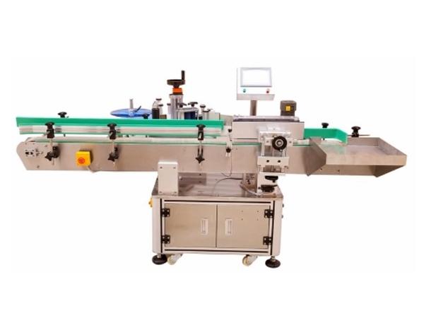Automatic production line integrated camera system fixed point positioning rotary labeling machine