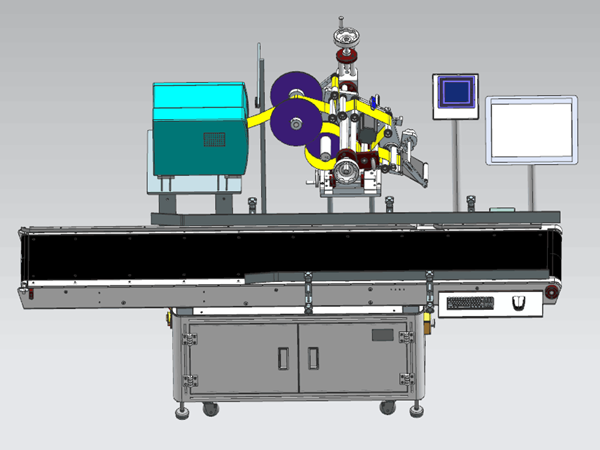Automatic labeling machine makes goods closer to users